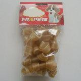 """Hueso natural del nudo del cuero crudo del Chew del perro (2 """" - 2.5 """")"""
