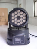 18PCS*3W Mini LED Moving Head Wash Light per la discoteca di Stage