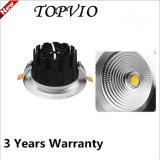 Lámpara de techo de techo de techo de lámpara de techo de 15W / 20W / 30W LED caliente 80ra COB Downlight