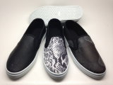 Повелительница PU обувает ботинки способа ботинок холстины (14hy1602)