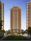 高レベルと住宅高層の外部のレンダリング