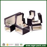 Коробка ювелирных изделий роскошной изготовленный на заказ упаковки деревянная