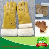 Неподдельные перчатки овчины/двойные перчатки овчины стороны/перчатки овчины конструкции способа/Mitten овчины конструкции способа