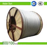 Tous les câbles de conducteur renforcés par acier en aluminium du conducteur ACSR de tailles