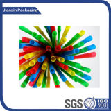 Palha pequena colorida do plástico do tamanho