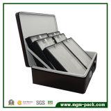 Caixa de jóia de couro agora High-Capacity do armazenamento