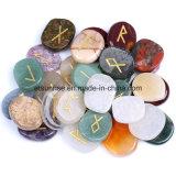 Das fatias de cristal dos Runes da pedra Semi preciosa cinzeladura de pedra