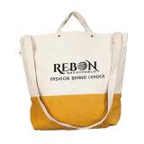 カスタマイズされたロゴのOEMの発注の綿のキャンバスの戦闘状況表示板のショッピング・バッグ