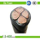 3 câble électrique de cuivre isolé par PVC du faisceau Yjv23 2*185mm2