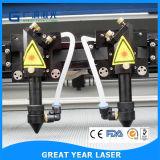 Вырезывание лазера двойных головок 1400*900 высокоскоростное и гравировальный станок 1490d