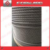 Câble métallique d'acier inoxydable Ss316/304 7X19 7X36 2.5mm - 42mm