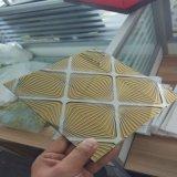 vidro de vidro do vidro da decoração do teto de 5mm/arte para o indicador