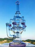 Tubulação de água de fumo de vidro de Faberge do reciclador misturado de Pyrex do Borosilicate 8