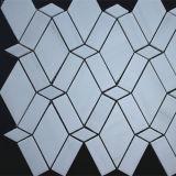 Azulejo de mosaico de mármol blanco de la estrella Polished hermosa de la mirada
