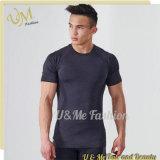 2017 Mens masquent l'ajustement sec de forme physique de T-shirt de gymnastique sans joint