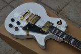 Guitare 1960 électrique blanche de Lp Vos Lp