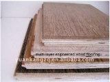 El grado CD cepilló el suelo de madera dirigido roble multi engrasado natural de las capas