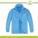 Rivestimento di nylon del Windbreaker degli uomini blu su ordine (KY-J042)