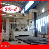 La placa de acero de la máquina de granallado