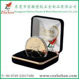Contenitore di imballaggio dorato della moneta del velluto poco costoso per i regali di Medel con il campione libero
