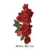 Laço do bordado da correção de programa da flor da forma para acessórios do vestuário