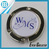 Alfabeto creativo no gancho de dobramento preto circular do saco do metal