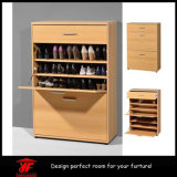 HomeのためのMDF Drawer Chest Shoe RackはShoe Cabinetを習慣作った