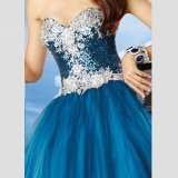2017 Elegante Custom Made Sweetheart curto simples baratos Celebrity Prom Dresses (SR70)