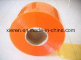 Tende di plastica costolate gialle della striscia dell'Anti-Insetto
