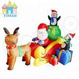 De reuze Opblaasbare Jongens van Snoopy van Kerstmis op Ar voor de Decoratie van de Werf