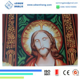 Impressão manchada de Digitas de vidro para a igreja