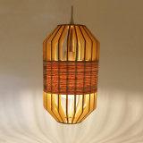 a&L hölzerne und hölzerne Haut-Mischungs-hängende Lampe für Hotel-Dekoration