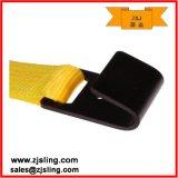 """2 """" X 27 de ' Gele Riem van de Pal met Zwarte Vlakke Haak"""