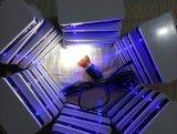 Jogos solares da iluminação do diodo emissor de luz com os bulbos do diodo emissor de luz de 2PCS 1W com carregador do USB