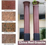 De rode Huid van de Kolom van de Pijler van het Graniet/Body/Base