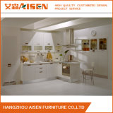 Stab-Handgriff-moderner weißer glatter Lack-Küche-Schrank