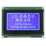 LCD 모듈이 파란 색깔 백색에 의하여 점을 찍는다