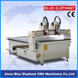 Ele-1325 CNC van multi-hoofden de Machine van de Houtbewerking met Dubbele Afzonderlijke Hoofden