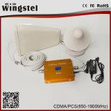 Répéteur mobile à deux bandes de signal de la vente chaude CDMA/PCS 850/1900MHz avec l'affichage à cristaux liquides