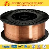Aws Er70s-6銅の上塗を施してあるミグ溶接ワイヤー保護される二酸化炭素のガスが付いている固体はんだの溶接ワイヤ