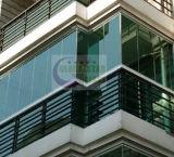 Freies oder abgetöntes Hartglas, Glastür