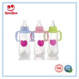 Nahrungsmittelgrad-normales Stutzen-Baby-führende Flasche mit Griff