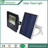 luz solar 10W con la iluminación de la seguridad del reflector del sensor de PIR
