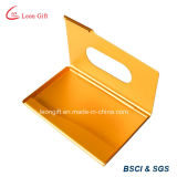 Gold modificado para requisitos particulares Credit Card Holder para Promotion