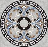 Diseño Waterjet de piedra del medallón del azulejo de suelo de azulejo de mosaico del jet de agua