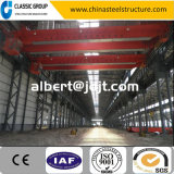 Alto almacén fácil/taller/hangar de la estructura de acero de la estructura de Qualtity de la grúa grande
