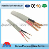 Câble plat de 2 faisceaux de BVVB+E pour des constructions