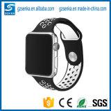 ナイキスポーツのAppleの腕時計のための白いシリコーンの時計バンドストラップとの卸売の黒