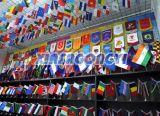 플라스틱 폴란드와 가진 손 물결치는 깃발 또는 주문을 받아서 만들어진 손 깃발