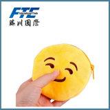 Borsa della moneta di Emoji della chiusura lampo del cuoio della fabbrica del grossista